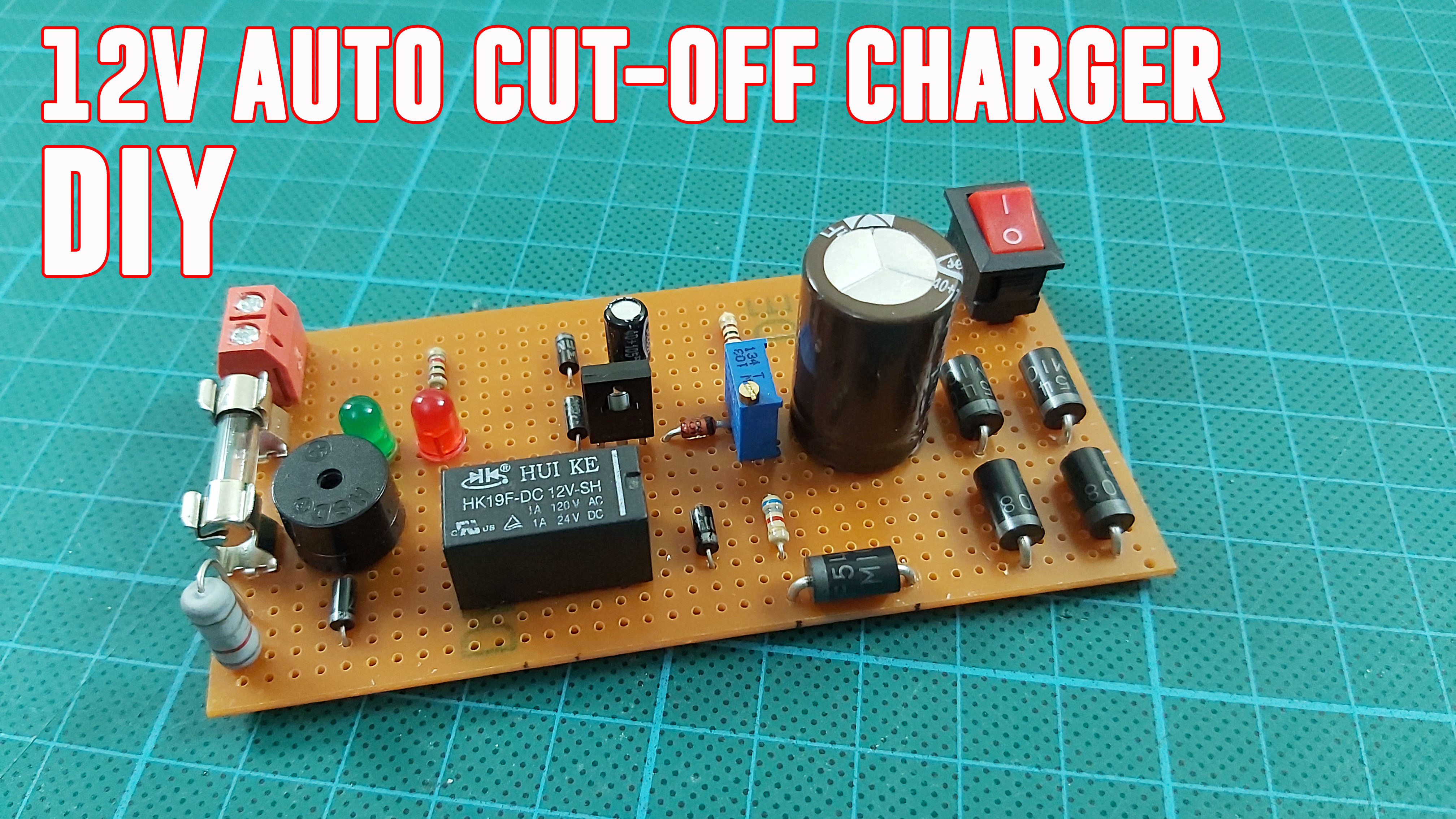 12V Lead Acid Battery Charging Circuit with Auto Cut-Off. DIY PB Battery Charger