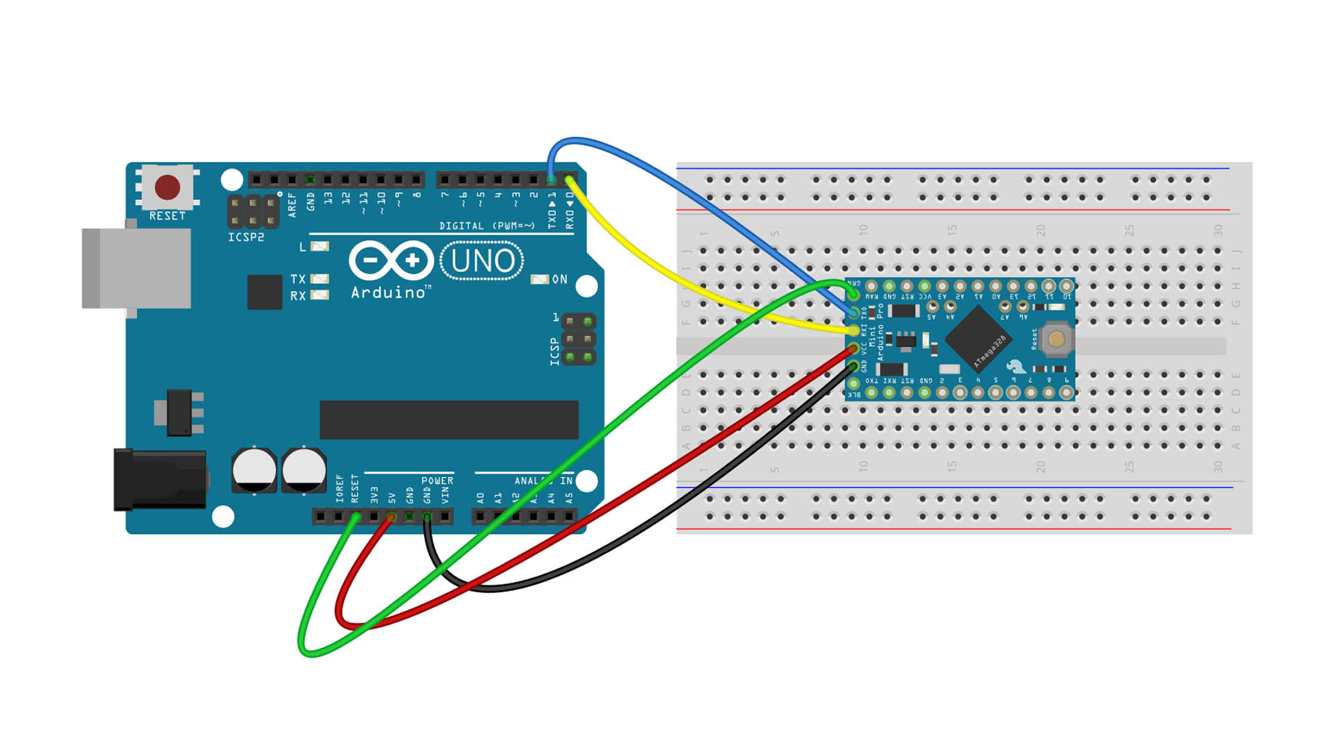 Arduino Pro Mini Programming with Arduino UNO