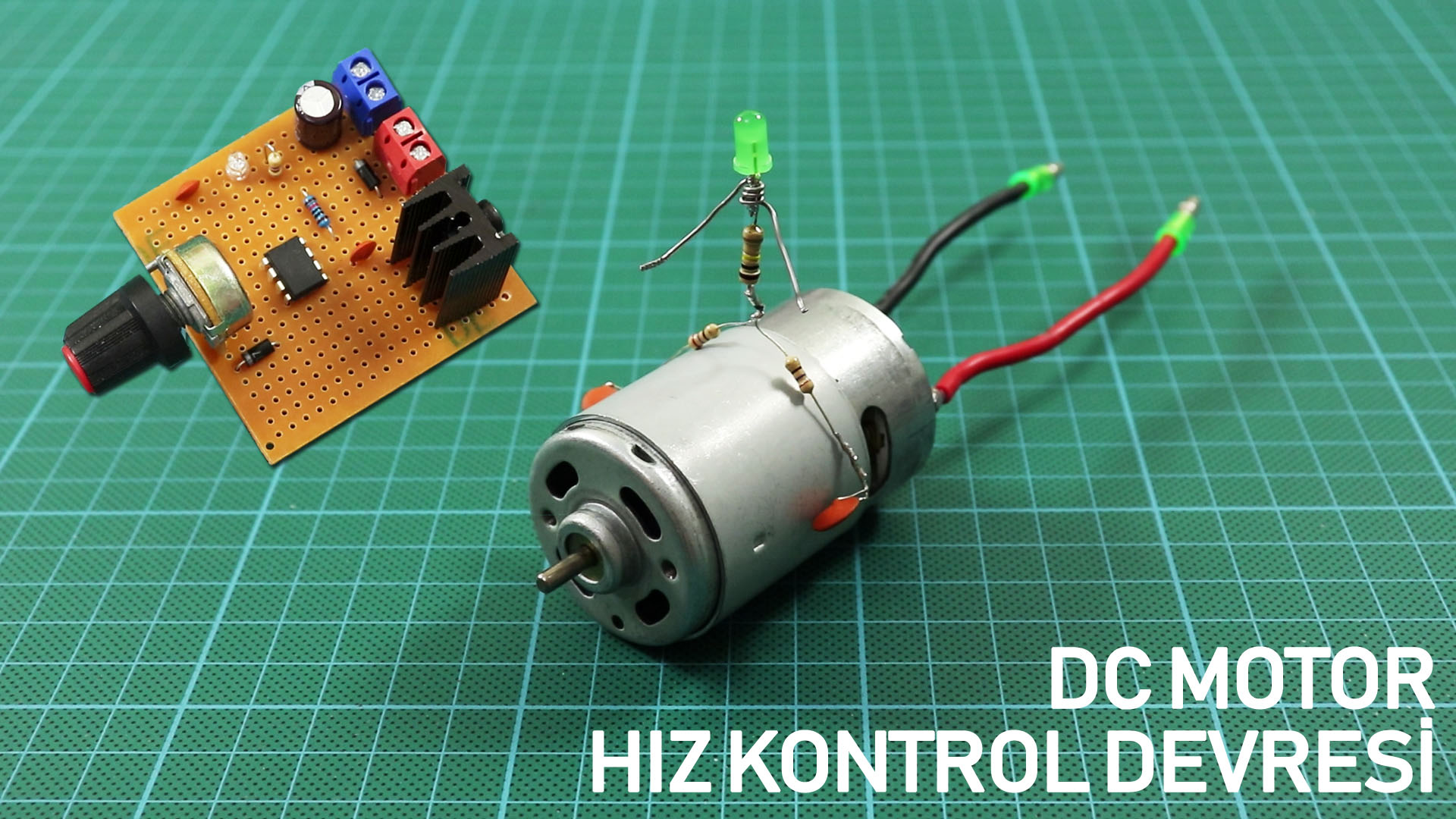 How To Make DC Motor Speed Controller Circuit. DIY PWM Motor Controller.