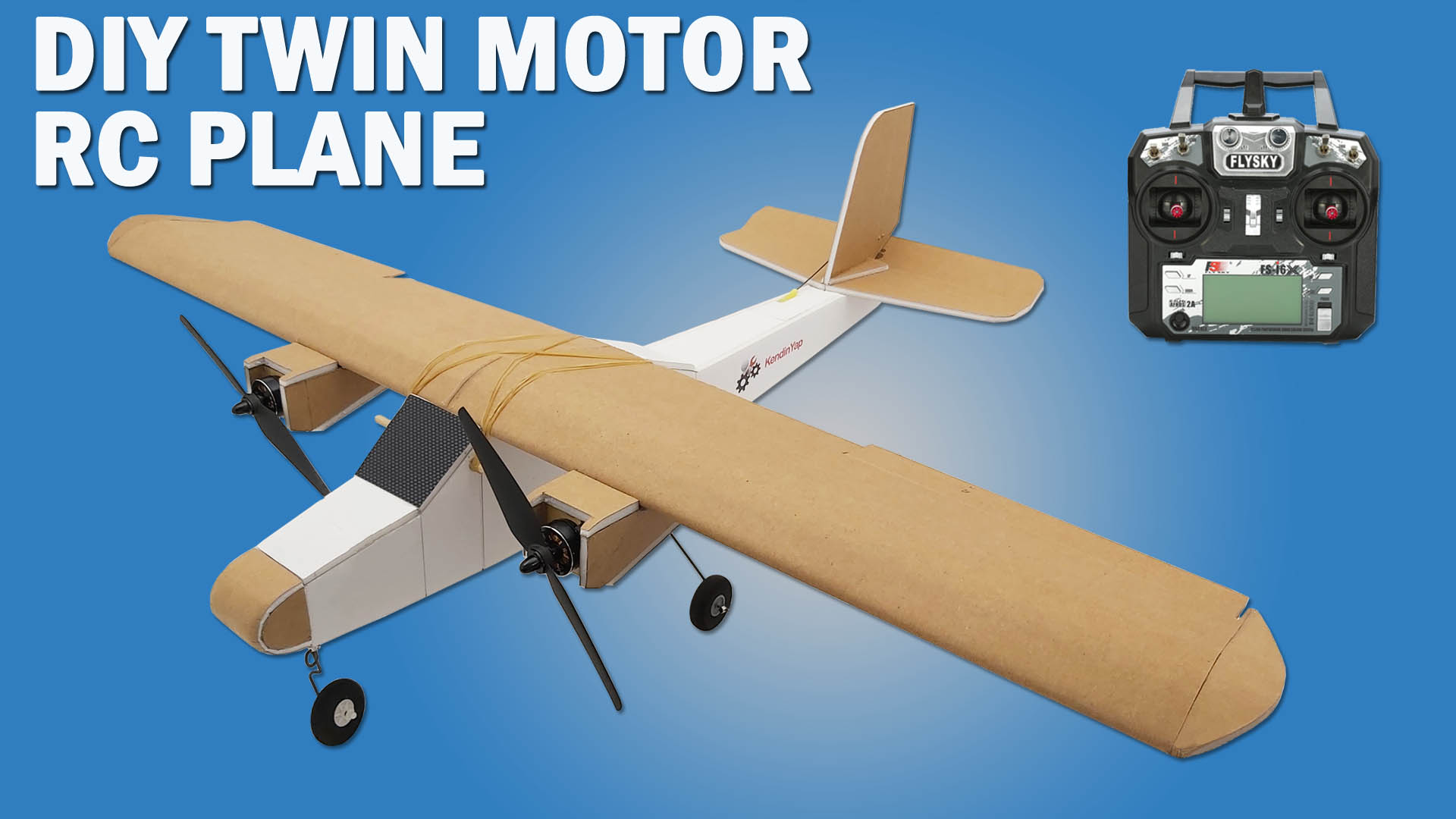 How To Make Twin Motor RC Model Airplane – DIY Brushless Motor Model Airplane.