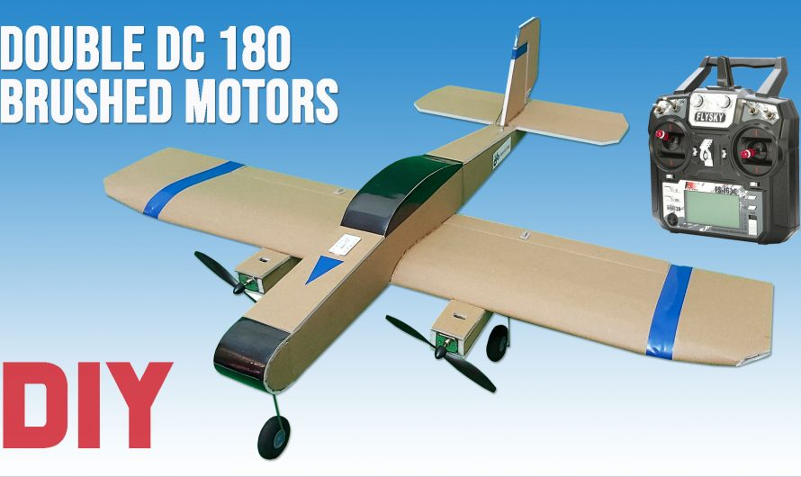 How To Make a Twin Motor RC Model Airplane. 2 x Brushed DC 180 Motors