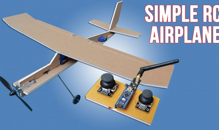 How To Make Simple RC Airplane For Simple Radio Control