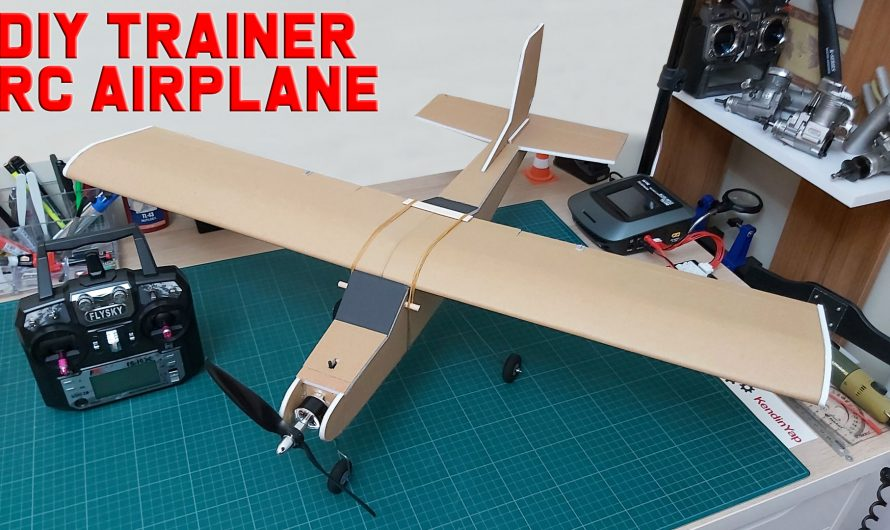 How To Make RC Trainer Airplane. DIY Model Airplane For Beginners