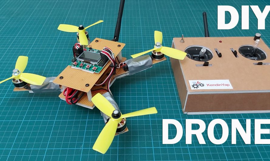 How To Make Drone With Handmade Radio Control. DIY Drone