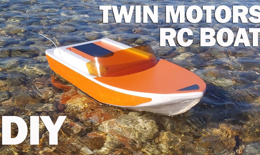How To Make Twin DC Motor RC Boat. DIY Radio Control Model Boat