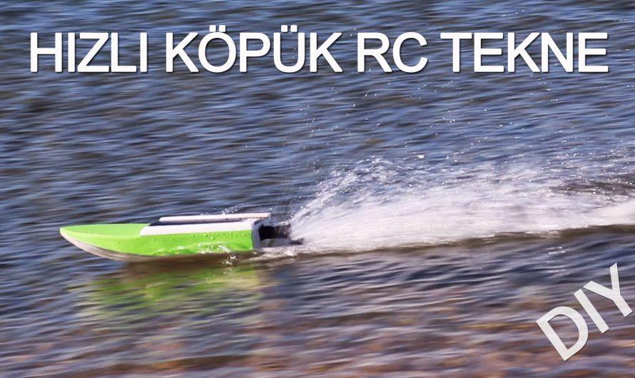 Hızlı Tek Motorlu RC Tekne Yapımı. DIY Model Tekne.