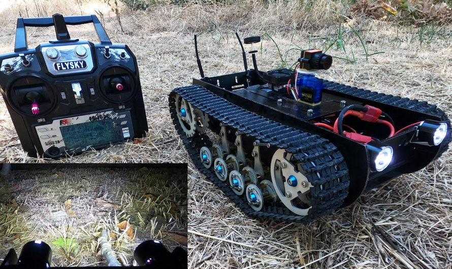 How To Build RC Robot Car Chassis With Camera & Power LED System. (Motor Upgrade For More Torque)