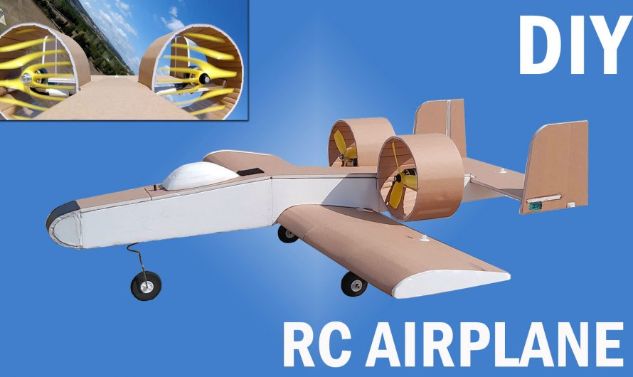 How To Make RC Twin Ducted Fan Airplane. DIY A10 Thunderbolt-like RC Plane