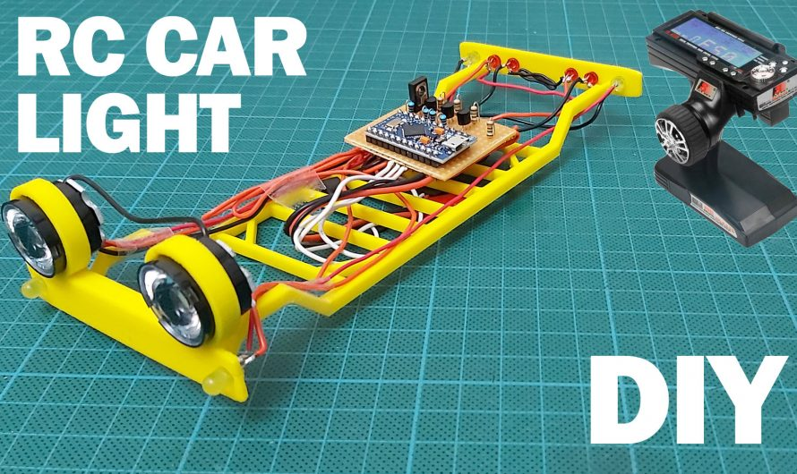 How To Make RC Car Light System. Diy Remote Control RC Light Circuit.
