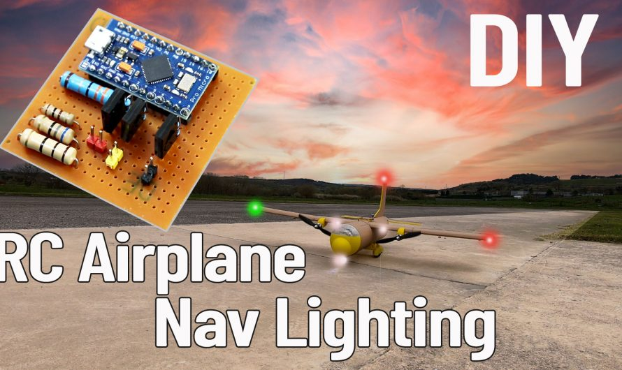 How To Make Navigation Light System For RC Airplane.
