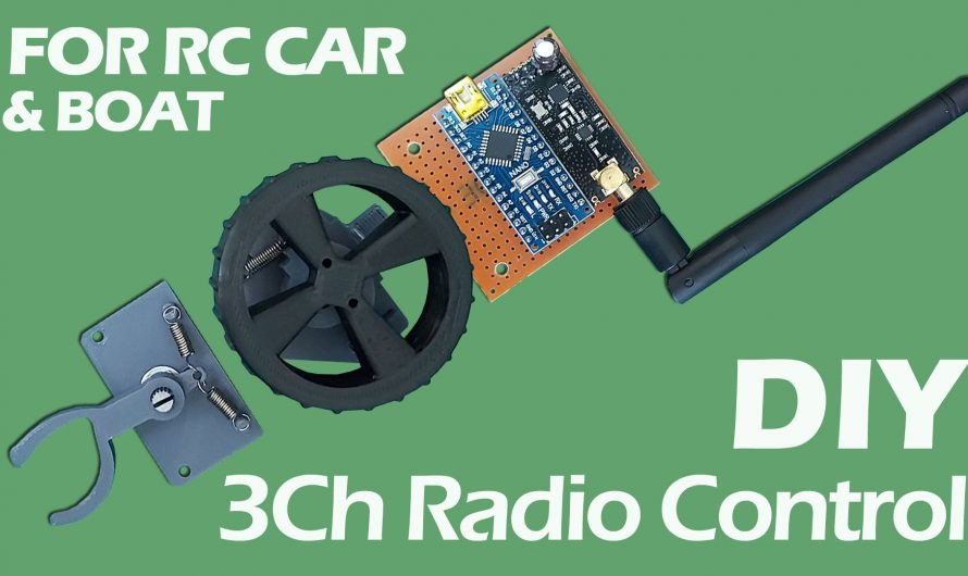 How To Make Remote Control For Model Car & Boat. DIY 3-Channel RC