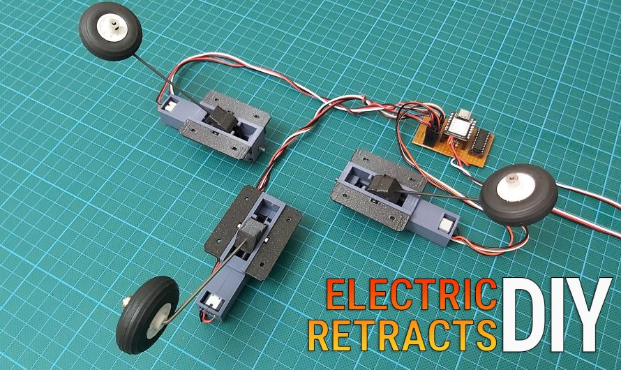 Making Retractable Landing Gear for RC Model Airplanes. DIY Electric Retract